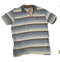 Izod Striped Polo Short Sleeve Shirt Men's Size L (New With Tags)