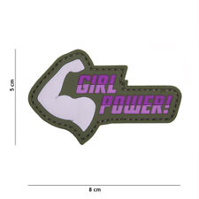 AIRSOFT SOFTAIR GIRL POWER MORALE PATCH PVC Hook and Loop
