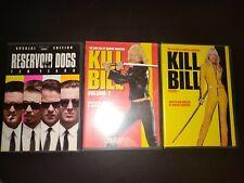 Reservoir Dogs (Dvd, 2003, 10th Anniversary Edition Kill Bill 1 and 2 lot