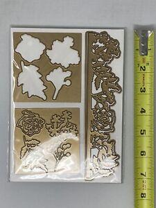 Anna Griffin 5x7 Wildflower Garden 3d Embossing Folder and Cutting Dies