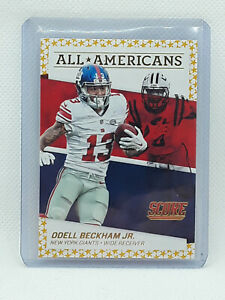 Odell Beckham Jr 2016 Score Football - All Americans GOLD - New York Giants