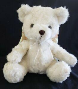 "Avon Praying Singing Angel Teddy Bear w/Wings 10"",2001 (Sound Box Has Issues)"