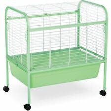 Indoor Rabbit Cages Rolling With Stand Bunny Hamster Guinea Pig Home Ferret