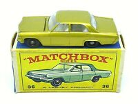 Matchbox Lesney No.36c Opel Diplomat In Type 'E3' Series Box (RARE GREY ENGINE)