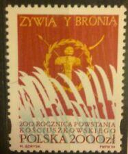 POLAND STAMPS MNH Fi3335 Sc3188 Mi3483 - Kosciuszko Uprising, 1994, clean