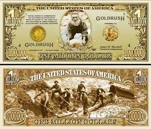 LA RUEE VERS L'OR - BILLET MILLION DOLLAR US ! Collection USA GOLD RUSH PEPITE