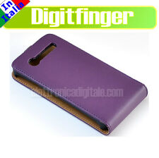 Samsung I9070 Galaxy S Advance CUSTODIA SLIM Fodero Cover Guscio eco PELLE viola