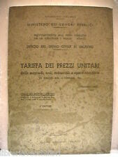 Edilizia Salerno TARIFFE DEI PREZZI UNITARI DELLE MERCEDI NOLI MATERIALI Genio