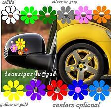 yellow hubcap mirror flower car Volkswagen 22 set vw bug beetle ANY CAR hub cap