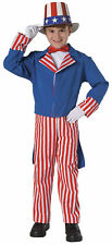 YOUNG AMERICAN HEROES DLX UNCLE SAM BOOK REPORT HALLOWEEN COSTUME CHILD LG 12-14