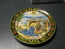 1971 MIB PEACE ON EARTH CHRISTMAS HOLIDAY PORCELAIN PLATE W.GERMANY U KERAMIK