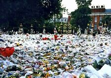 PHOTO  1997 FLORAL TRIBUTES AT KENSINGTON PALACE THE FLORAL TRIBUTES WERE TO DIA