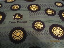 John Deere  baby toddler sheets set tires & wheels green flannel