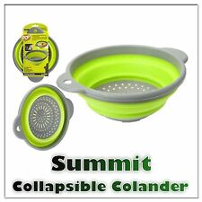 Summit Folding Colander Collapsible Strainer Silicone Camping Kitchen Caravan