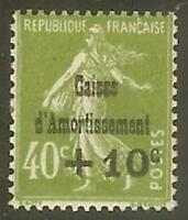 """FRANCE STAMP TIMBRE 275 """" CAISSE AMORTISSEMENT, SEMEUSE +10 C S 40 C """" NEUF x TB"""