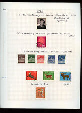 West Germany 1966 Album Page Of Stamps #V3046