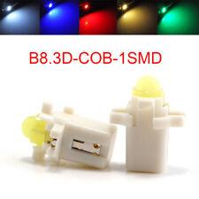 100Pcs T5 COB B8.3D 1-SMD LED Instrument Panel Lights Wedge Car Dashboard Bulb
