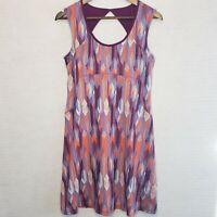 Prana Athletic Dress Holly Purple A Line Cutout Back Sleeveless Built In Bra Sm