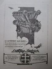 5/1923 PUB LORRAINE DIETRICH MOTEUR AVIATION AERO ENGINE ORIGINAL FRENCH AD
