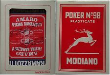 RAMAZZOTTI CARTE DA GIOCO Sigillate-54 CARTE DA POKER  N° 98 PLASTICATE-MODIANO