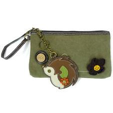 Pal Clutch - Hedgehog, Olive, Cute Removable Hedgehog Key Fob / Coin Purse