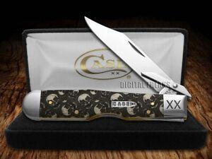 Case xx Natural Bone Cheetah Knife 1/500 Skulls Pocket Knife Stainless