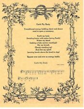 Book of Shadows Spell Pages ** Earth My Body ** Wicca Witchcraft BOS