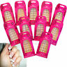 Body Collection Air Brushed 24 Fake French Nails Tips Manicure Glue Buffer False