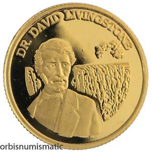 1999 ZAMBIA 500 KWACHA DR. DAVID LIVINGSTONE 1/25 OZ 999% GOLD PROOF COIN Z240