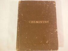 CHEMISTRY JOHN HOWARD APPLETON 1884 EDITION BOOK