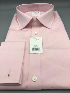 Thomas Pink, Poplin Shirt, Pink, UK:18L, EU:45L, RRP:£130 Tailored Fit