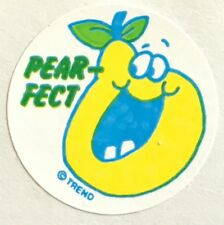 Vintage 80s Matte Trend Scratch & Sniff Sticker - Pear - Mint!!