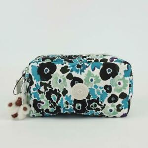 KIPLING GLEAM Nylon Pouch Cosmetic Pencil Case Field Floral