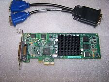 Matrox G550 PCIe x1 Dual Monitor LP (SFF) Card + Cable, Win 7/8 compatible