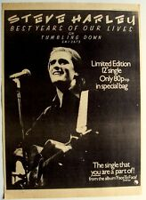 STEVE HARLEY 1977 original POSTER ADVERT BEST YEARS OF OUR LIVES cockney rebel