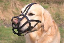 Muselières noirs Trixie en cuir pour le dressage des chiens