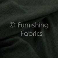 Soft Faux Wool Finish Charcoal Chenille Fabric Upholstery Furnishing & Curtains
