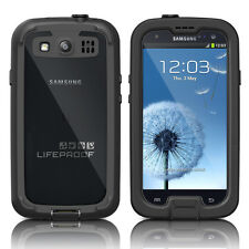 LifeProof Galaxy S3 Nuud Waterproof Case Black / Clear Cover OEM New Original