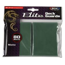 1 Pack 80 BCW Elite Deck Guard MATTE GREEN MTG Pokemon Gaming Card Sleeves