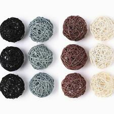 Decorative Balls 12-Pack Large Wicker Rattan For Bowls, Vase Filler, Coffee Home