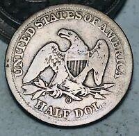 1859 O Seated Liberty Half Dollar 50C Ungraded Choice Good Silver US Coin CC6529