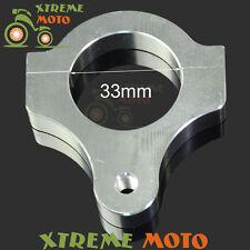 33mm CNC Steering Damper Stabilizer Bracket Fork Tube Mounting Clamp Motorcycle