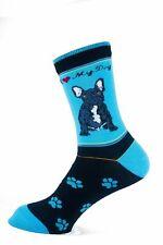 French Bulldog Black Dog Socks Signature