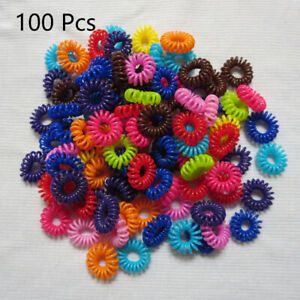 1/10/100 Ponytail Fashion Hair Ring Rubber Hair Accessory Phone Line WholesaleCA