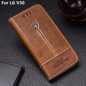 Stand Card Holder Flip Wallet Card Slot Leather Phone Case Cover 6.0' For LG V30