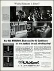 1956 Couple sweating in bedroom Whirlpool air conditioner photo print ad adl82 photo