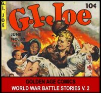 Golden Age ZIFF DAVIS G.I JOE WAR BATTLE COMICS Book Lot DVD Marines ww2 Hero 2