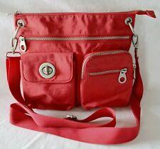 Baggallini Sydney Shoulder Bag Crossbody Travel Organizer Red Messenger Zipper