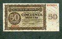 BILLETE 50  PESETAS 1936  E918384  MBC