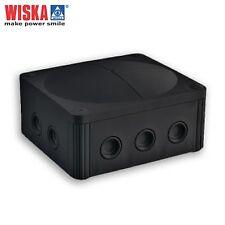 Wiska COMBI 1210/5 Weatherproof Outdoor Junction Box Black IP66/67